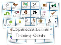 Uppercase Letter Cards