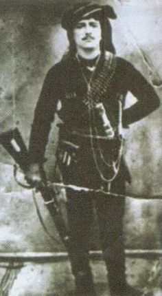 Portrait of a Greek (Pontos) insurgent in Costume of the people's militia, from the Trabzon region. Greek Traditional Dress, Traditional Outfits, Churchill, Tatiana Romanov, Greek Names, Folk Dance, Black Sea, Portrait Photo, Greece