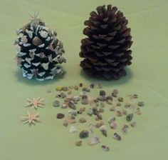 Natural PineCone Christmas Tree and Sea Shell by SeaLifeOrnaments, $5.00