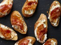 11. Bacon-Ricotta Crostini Top toasted baguette slices with ricotta and cooked bacon pieces. Drizzle with 2 tablespoons honey mixed with 1 t...