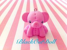 Baby Pink Elephant Cell Strap by BlackOutDoll on DeviantArt