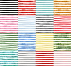 Watercolor & Metallic Digital Paper by Creativeqube Design on…