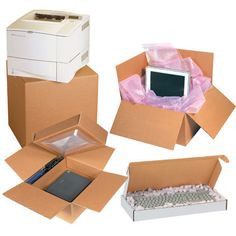 Computer Packing Boxes from 4mailers.com #packaging #packagingmaterials #moving #shippingmaterials #computerboxes