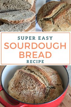 A super easy recipe for making homemade sourdough bread! Grab your sourdough sta. - A super easy recipe for making homemade sourdough bread! Grab your sourdough starter and impress your family and friends with a fresh loaf of homemade sourdough bread. Dutch Oven Sourdough Bread Recipe, Sourdough Bread Starter, Dutch Oven Bread, Dutch Oven Recipes, Sourdough Recipes, Easy Bread Recipes, Dutch Ovens, Recipe Breadmaker, Wild Yeast Bread Recipe
