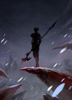 FinalFantasy XIV : Dragoon by Mushstone Dragoon Final Fantasy, Final Fantasy Xiv, Fantasy Series, Fantasy World, Final Fantasy Artwork, Dark Fantasy Art, Fantasy Characters, Dnd Characters, Fantasy Art