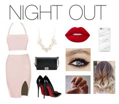 """""""Night out"""" by glcot on Polyvore featuring moda, Christian Louboutin, Chanel, Charlotte Russe e Lime Crime"""