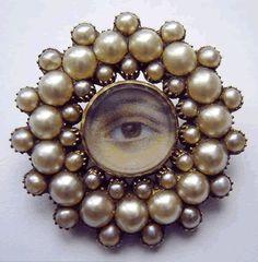 pearls around a Georgian Lovers eye