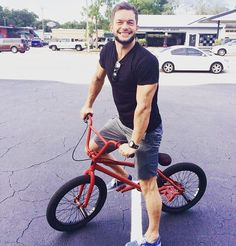 Finn Balor on a bike lol