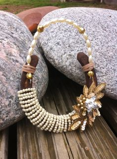 Pearl and Sparkle Embellished Horsehoe by DusttoDazzle on Etsy, $40.00