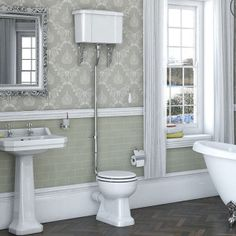 Camberley High Level Toilet including Luxury White MDF Soft Close Seat