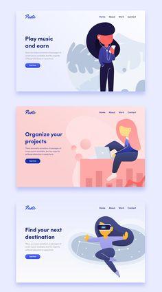 Handsome Illustrations on Market (market.) Handsome Illustrations on Market (market. Cool Web Design, App Design, Web Design Trends, Web Design Company, Logo Design, Flat Design, Report Design, Web Design Websites, Online Web Design