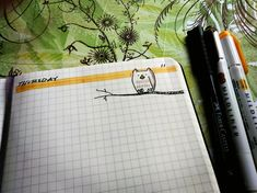 Join us for out October Bullet Journal Doodle the Owl. You can doodle. Bullet Journal Gifts, Bullet Journal Spread, Bullet Journals, Owl Doodle, Watercolor Galaxy, Lucky Day, My Journal, Bullet Journal Inspiration, Blog