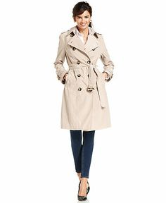 London Fog Coat, Double-Breasted Belted Trench - Coats - Women - Macy's