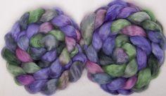 English Wensleydale  handpainted top roving spin felt  braid 100g British wool Aisgill by YummyYarnsUK on Etsy