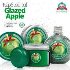"""Κέρδισε τη νέα, χριστουγεννιάτικη σειρά """"Glazed Apple"""" από τη The Body Shop - Xmas Life Apple Glaze, The Body Shop, Lip Balm, Xmas, Shopping, Christmas, Weihnachten, Lip Moisturizer, Jul"""