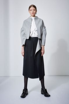 Mila Schön Milano #wardrobe #mixte #2016 #milaschon #double #jacket #shirt #skirtdouble #madeinitaly #outofthedark #milano