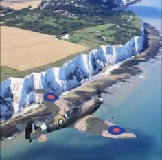 Spitfire on the Dover coast