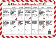 Don't get stuck coming up with Elf on the Shelf Ideas-- we have a whole calendar of Ideas to spark your inspiration.