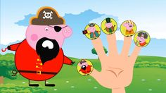 #Pirates #Peppa Pig Family / #Finger Family Song / Nursery Rhyme Lyrics Pig Family, Finger Family, Nursery Rhymes Lyrics, Family Songs, Peppa Pig, Pirates, Youtube, Fictional Characters, Fantasy Characters