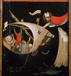 Panel Painting of Saint Nicholas Protecting Sailors by Vitale da Bologna Renaissance, San Nicola, Portraits, Saint Nicholas, Sculpture, Bari, Sailors, Bologna, Masters