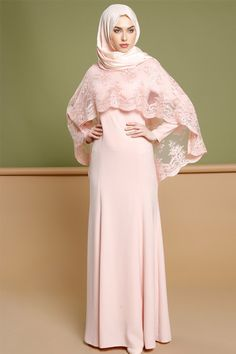 Puane Somon Dantel Pelerinli Abiye Elbise 389.90 TL http://alisveris.yesiltopuklar.com/puane-somon-dantel-pelerinli-abiye-elbise.html