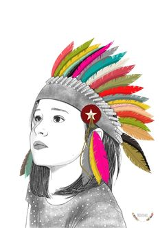 nl is your first and best source for all of the information you're looking for. From general topics to more of what you would expect to find here, ippysposters. Art Et Illustration, Illustrations, Impression Offset, Native American Girls, Portrait, Rainbow Colors, Illusions, Artsy, Drawings