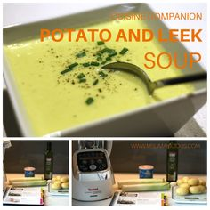 Potato and Leek Soup is a classic French dish also called 'Potage Parmentier'. The leeks are sauteed first, which caramelizes and intensifies their taste. Asparagus Soup, Salmon And Asparagus, Classic French Dishes, Potato Leek Soup, Bean Stew, My Recipes, Favorite Recipes, Soup And Salad, Potatoes