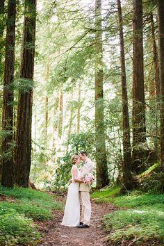 A wedding ceremony amid the redwoods at Big Sur's Ventana Inn & Spa. #travel #bigsur #california