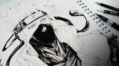 Kakashi : Sketchbook 3 by Abz-J-Harding