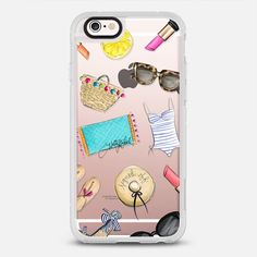 Summer Style (Fashion Illustration Transparent Case) - protective iPhone 6 phone case in Clear and Clear by @hnillustration #fashionillustration | @casetify