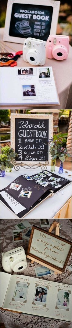 Marriage Polaroid inspired unique wedding guest book ideas Do You Have the Right Blades for Your Cei Trendy Wedding, Unique Weddings, Fall Wedding, Rustic Wedding, Dream Wedding, Wedding Unique, Party Wedding, Wedding Music, Country Weddings
