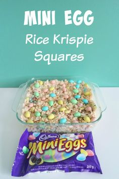 Rice Krispies Treats Mini Egg Rice Krispie Squares: Your kids will now start clawing at you like ravenous Easter wolverines.Mini Egg Rice Krispie Squares: Your kids will now start clawing at you like ravenous Easter wolverines. Holiday Desserts, Holiday Baking, Holiday Treats, Holiday Recipes, Easter Desserts, No Egg Cookies, Easter Cookies, Easter Treats, Easter Cupcakes
