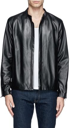 THEORY 'Russo' leather jacket