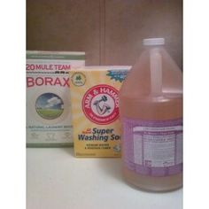 Laundry Soap with Dr. Bronner's Soap - I've made this recipe twice now and like it better than the first recipe I made, this recipe is much easier in my opinion.  I use Dr. Bronner's Unscented Baby Mild Soap.  Everything I wash is really soft using this recipe.