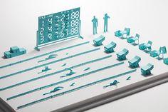 1/100建築模型用添景セット No.23 競泳編 - 製品リスト/ネットショップ | TERADA MOKEI