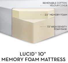 "LUCID by LinenSpa 10"" Memory Foam Firm Viscoelastic Mattress $299.99"