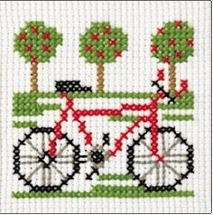 Beginner's Cross Stitch Bicycle Kit
