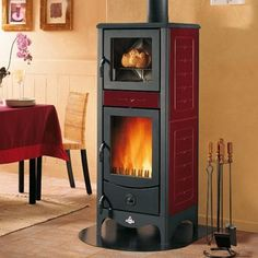 Simona Wood Burning Stove With Oven. I Like The Generous Glass For The  Firebox.