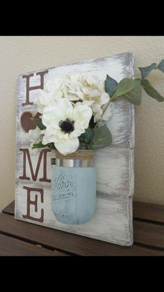Mason jar flower