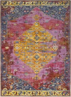 Wyclif Overdyed Floral Lilac/Purple Area Rug