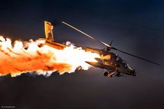 Apache Dropping Flares