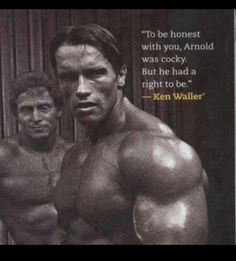 Have somebody look at you the same way Ken is looking at Arnold. For see more of fitness Freaks visit us on our website ! Bodybuilding Workouts, Bodybuilding Motivation, Arnold Bodybuilding, Bodybuilding Posters, Bodybuilding Training, Predator, Arnold Schwarzenegger Bodybuilding, Best Bodybuilder, Bodybuilding