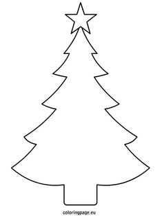 Christmas tree template printable: More