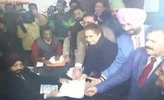 Navjot Singh Sidhu Files Nomination From Amritsar East