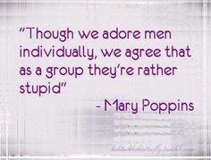 Mary Poppins on men