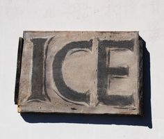 Vintage ice sign