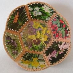 Vintage basket from greeting cards