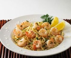 Garlic Lemon Shrimp with Pasta recipe