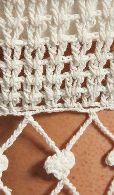 Breathe Easy Dress в цвете Cream - - Crochet Blouse, Knit Crochet, Crochet Hats, Handmade Skirts, Handmade Clothes, Crochet Stitches, Crochet Patterns, Wool Thread, Knitting Blogs