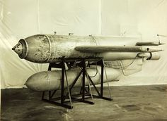 The Henschel Hs 293 was a World War II German anti-ship guided missile: a radio-controlled glide bomb with a rocket engine slung underneath it. It was designed by Herbert A. Wagner.